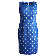 Buy Joules Francesca Dress, Mid Blue Damask Online at johnlewis.com