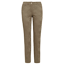 Buy Gerry Weber Jacquard Trousers, Khaki Online at johnlewis.com