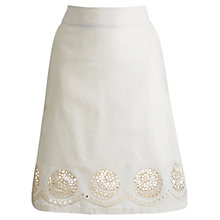 Buy Joules Kiran Skirt, Creme Online at johnlewis.com