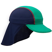 Buy John Lewis UV Keppi Hat, Navy/Green Online at johnlewis.com