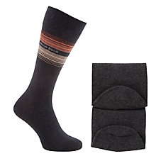 Buy BOSS Stripe Socks, Pack of 3 Online at johnlewis.com