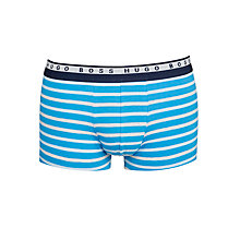 Buy Boss Essential Stripe Trunks, Blue/Grey Online at johnlewis.com