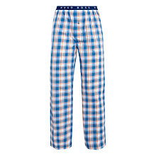 Buy BOSS Check Print Lounge Pants, Blue/Orange Online at johnlewis.com