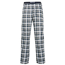 Buy BOSS Jersey Check Lounge Pants, Grey Online at johnlewis.com