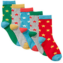 Buy John Lewis Boy Star Socks, Pack of 5 Online at johnlewis.com