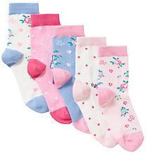 Buy John Lewis Girl Fairy Socks, Pack of 5, Multi Online at johnlewis.com