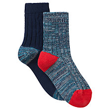Buy John Lewis Boy Boot Socks, Pack of 2, Blue Online at johnlewis.com
