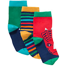 Buy John Lewis Boy Dinosaur Socks, Pack of 3, Multi Online at johnlewis.com