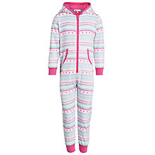 Buy John Lewis Girl Fairisle Print Onesie, Multi Online at johnlewis.com