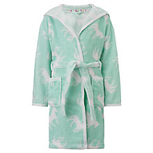 Buy John Lewis Girl Horse Print Robe, Mint Online at johnlewis.com