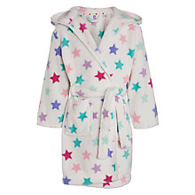 Buy John Lewis Girl Star Robe, Cream Online at johnlewis.com