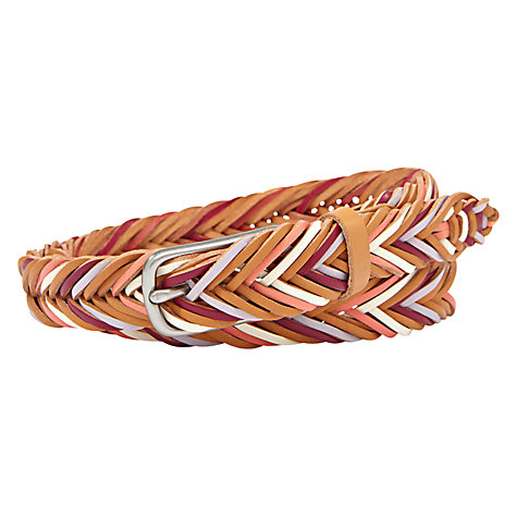 Buy Fossil Fishtail Braid Leather Belt Online at johnlewis.com