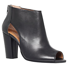 Buy Carvela Aspire Peep Toe Leather Shoes, Black Online at johnlewis.com