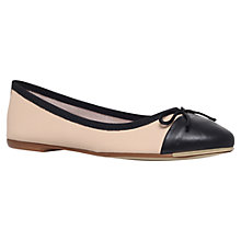 Buy Carvela Law Leather Ballerinas, Black / Nude Online at johnlewis.com