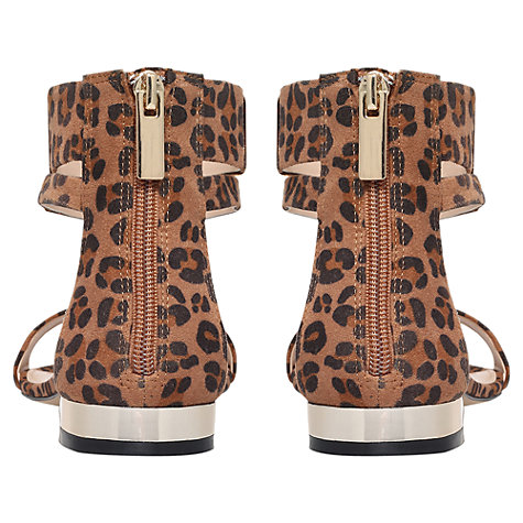 Buy Carvela Keel Flat Sandals, Animal Print Online at johnlewis.com