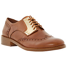 Buy Steve Madden Beekman Leather Metallic Plate Brogues Online at johnlewis.com