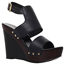 Buy Carvela Kitten Leather Sandals, Black Online at johnlewis.com