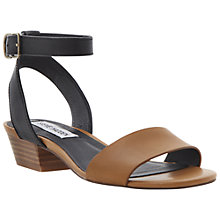 Buy Steve Madden Terrance Colour Block Leather Sandals,Tan Online at johnlewis.com