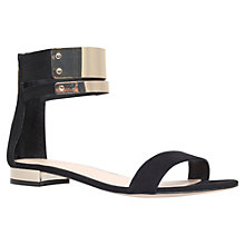 Buy Carvela Keel Flat Sandals, Black Online at johnlewis.com