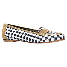 Buy Kurt Geiger Poppy Leather Loafers, Navy Online at johnlewis.com