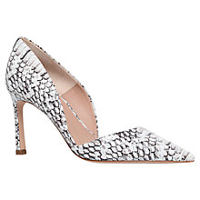 Buy Kurt Geiger Tulip Leather Court Shoes, Black / White Online at johnlewis.com