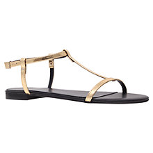 Buy KG by Kurt Geiger Match Sandals, Gold Online at johnlewis.com