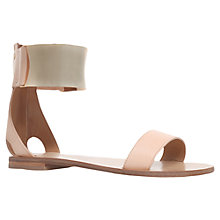 Buy Kurt Geiger Lux Leather Sandals, Tan Online at johnlewis.com