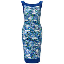 Buy Gina Bacconi Printed Wave Jersey Dress, Blue Online at johnlewis.com