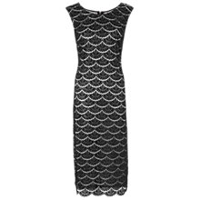 Buy Gina Bacconi Beaded Scallop Lace Dress, Black Online at johnlewis.com