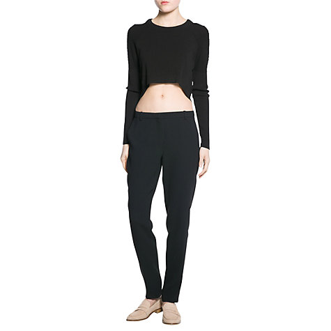 Buy Mango Crepe Trousers Online at johnlewis.com