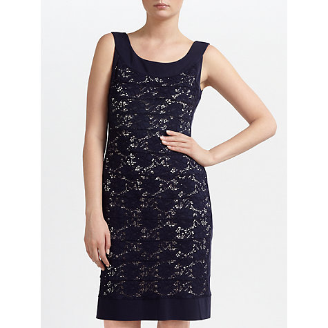 Buy Gina Bacconi Modern Floral Lace Dress, Navy Online at johnlewis.com