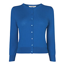 Buy L.K. Bennett Bibi Silk Crew Neck Cardigan Online at johnlewis.com