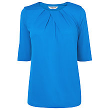 Buy L.K. Bennett Ambon Pleat Neck Top, Snorkel Online at johnlewis.com