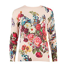 Buy Ted Baker Edryss Oil Painting Print Jumper, Nude Pink Online at johnlewis.com
