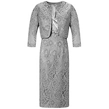 Buy Gina Bacconi Lace Jacket And Dress, Silver Online at johnlewis.com