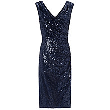 Buy Gina Bacconi Sequinned Dress, Spring Navy Online at johnlewis.com