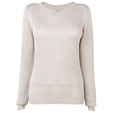 Buy L.K. Bennett Norman Crochet Knitted Jumper, Pebble Online at johnlewis.com