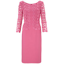 Buy Gina Bacconi Peau De Soie Dress, Pink Online at johnlewis.com