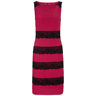 Gina Bacconi Tuck Jersey Dress, Poppy