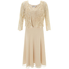 Buy Gina Bacconi Chiffon Pleated Bodice Dress, Beige Online at johnlewis.com