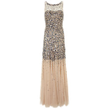 Buy Gina Bacconi Beaded Dress, Blue/Nude Online at johnlewis.com