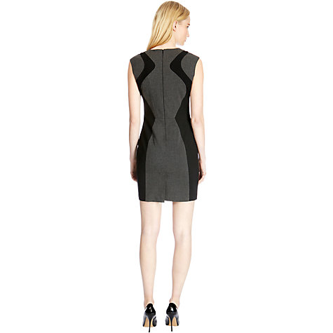 Buy Warehouse Panelled Dress, Grey Online at johnlewis.com