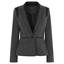 Buy Warehouse Contoured Paneled Blazer, Dark Grey Online at johnlewis.com