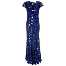 Buy Gina Bacconi Full Sequin Long Dress, Blue Online at johnlewis.com