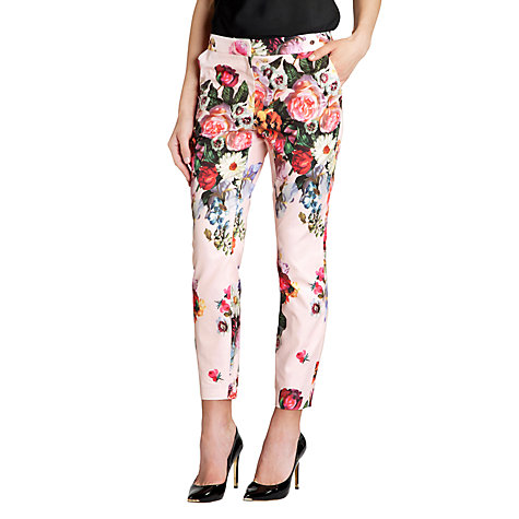 Buy Ted Baker Diemond Oil Painting Trouser, Nude Pink Online at johnlewis.com