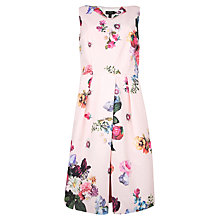 Buy Ted Baker Deavon Floral Printed Dress, Nude Pink Online at johnlewis.com