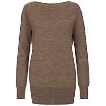 Buy Hobbs Letty Jumper, Bronze Online at johnlewis.com