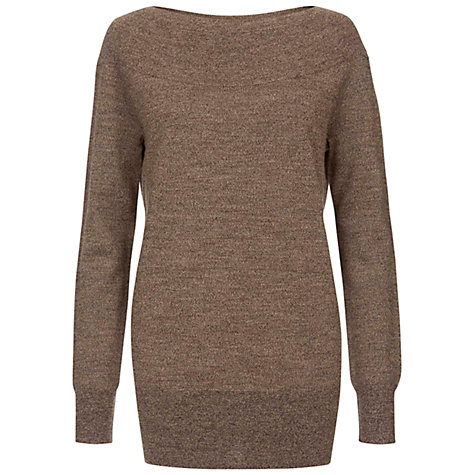 Buy Hobbs London Letty Jumper, Bronze Online at johnlewis.com