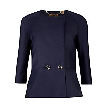 Buy Ted Baker Zivia Peplum Waist Two Button Jacket, Navy Online at johnlewis.com