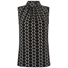 Buy Hobbs Amara Top, Black Online at johnlewis.com